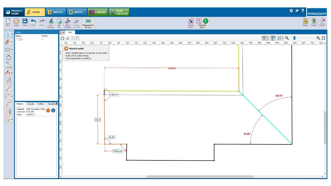 Captura de ecrã: Software Prodim Factory- Draw