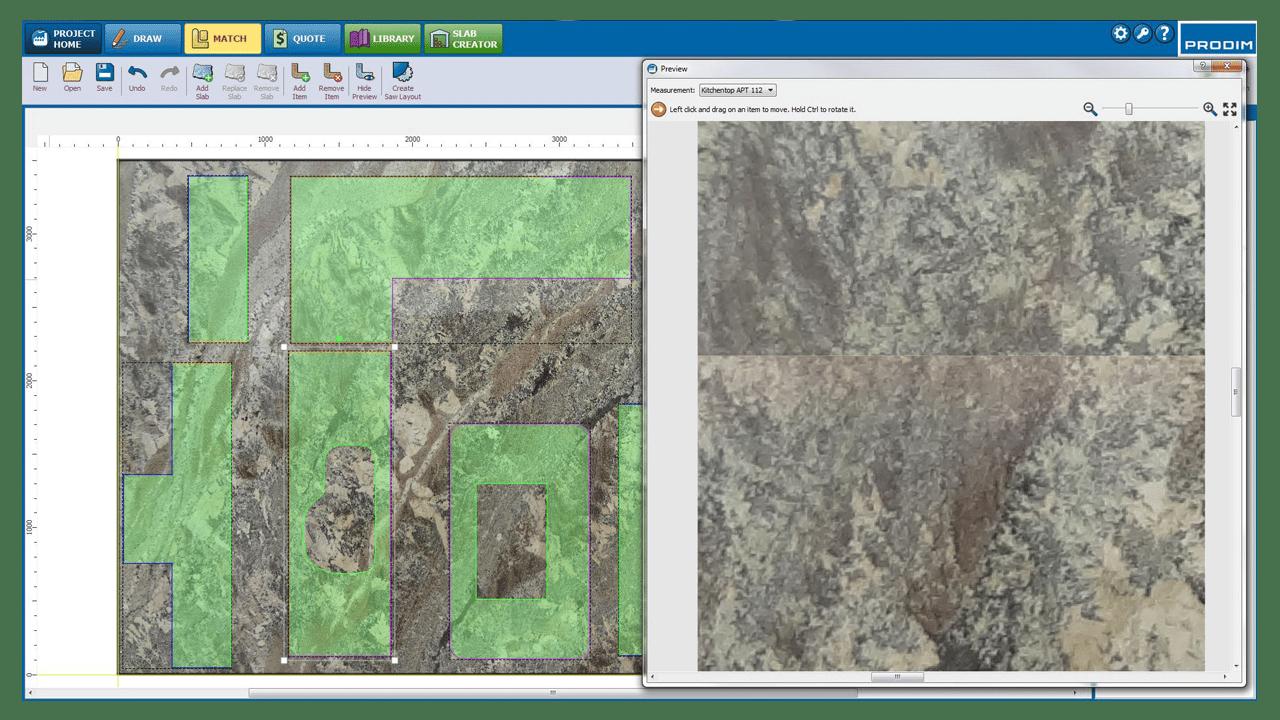 Captura de ecrã - Software Prodim Factory - Correspondência de Chapas