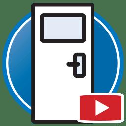 Botão para Assistir a vídeos do Proliner medição digital de Portas