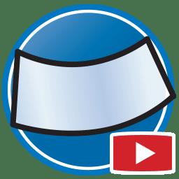 Botão para Assistir a vídeos Proliner de medição digital de janelas e para-brisas