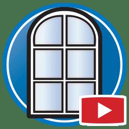Botão para Assistir vídeos Proliner de medição digital de janelas