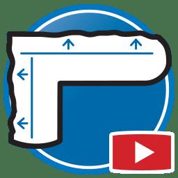 Botão para Assistir a vídeos Proliner de medição de moldes para produtos de Vidro