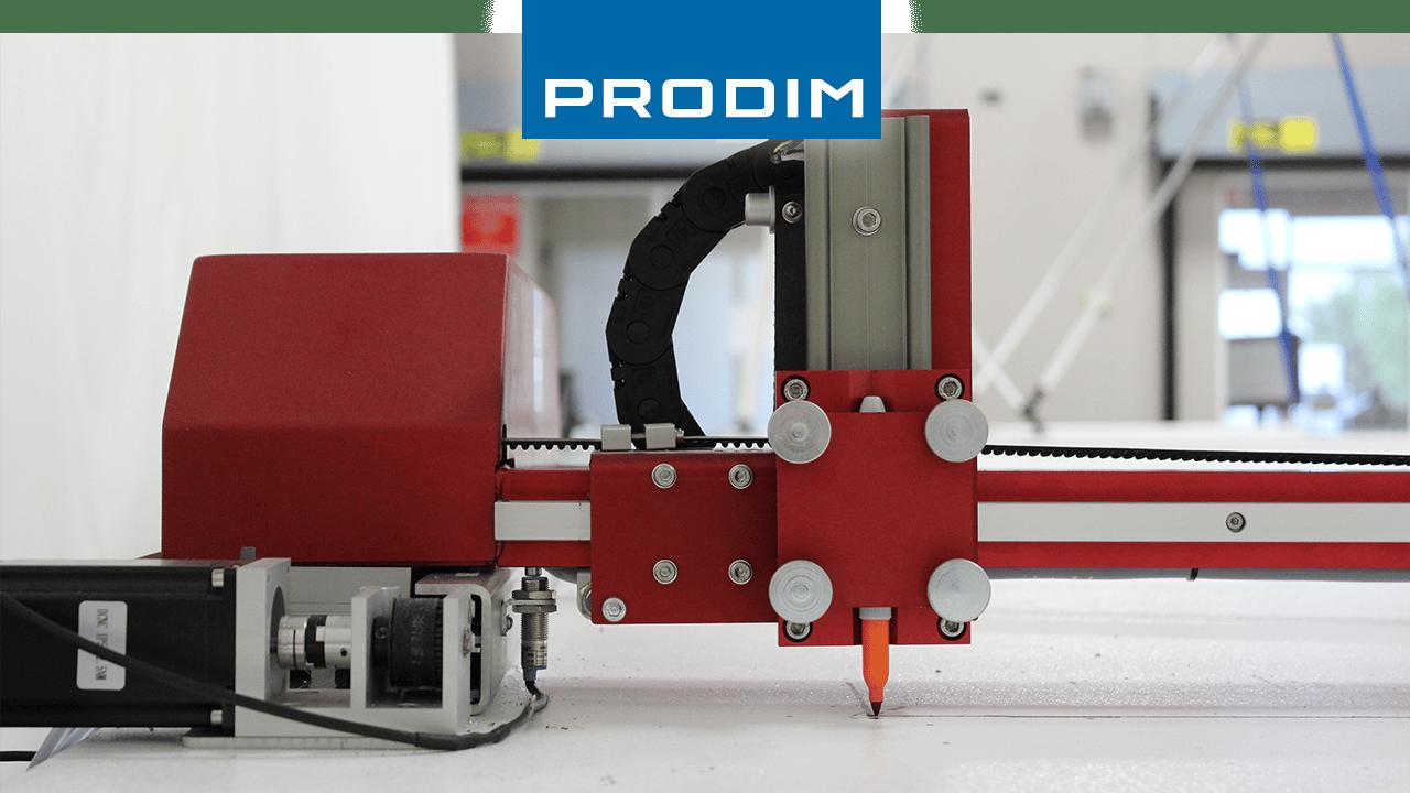 Prodim soluções completas de moldes digitais - Ferramentas industriais baseadas em aplicativos - Imagem da plotadora Prodim