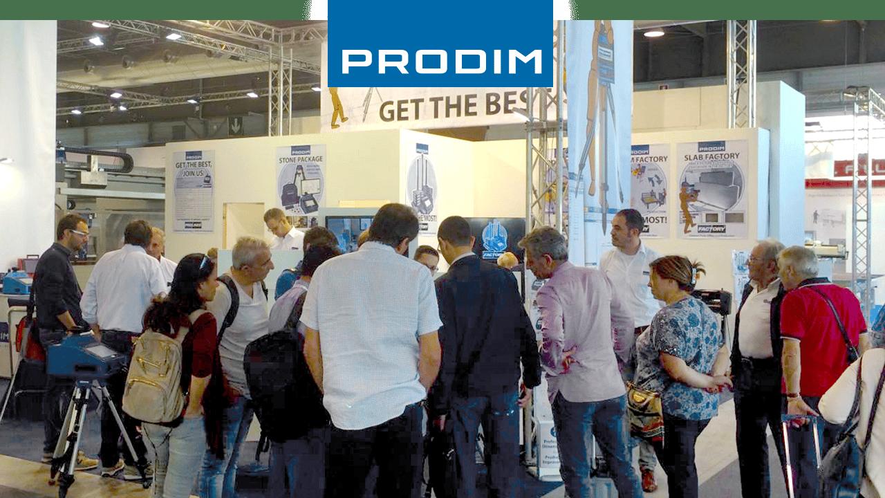 Prodim faz demonstrações em todo o mundo - Marmomac Stone Fair, Italy
