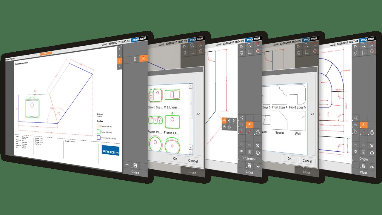 Capturas de ecrã- Software Proliner CT Prodim