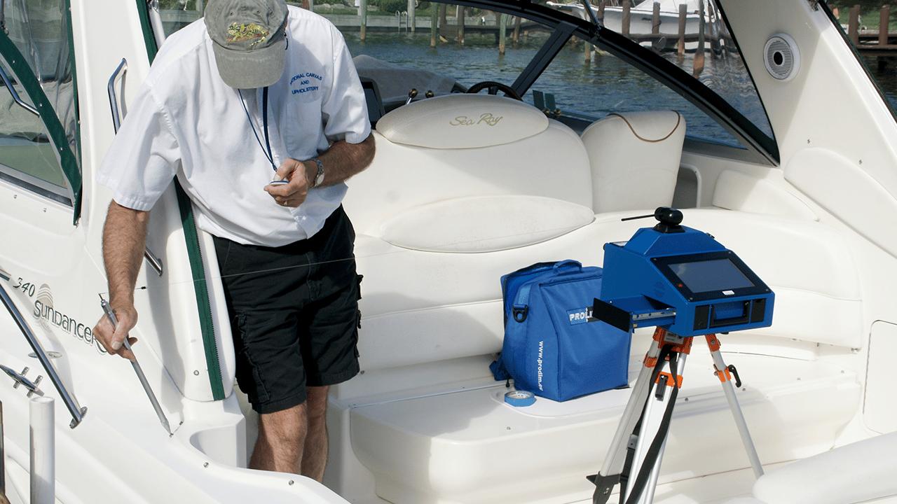 Proliner IPT Prodim - Usado na indústria náutica para medir pontos difíceis de alcançar