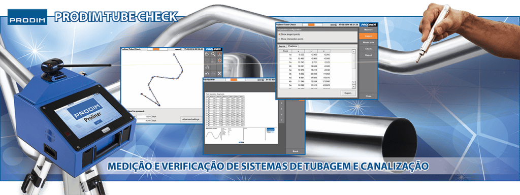 Prodim Tube Check - Medição e verificação de sistemas de tubagem e canalização