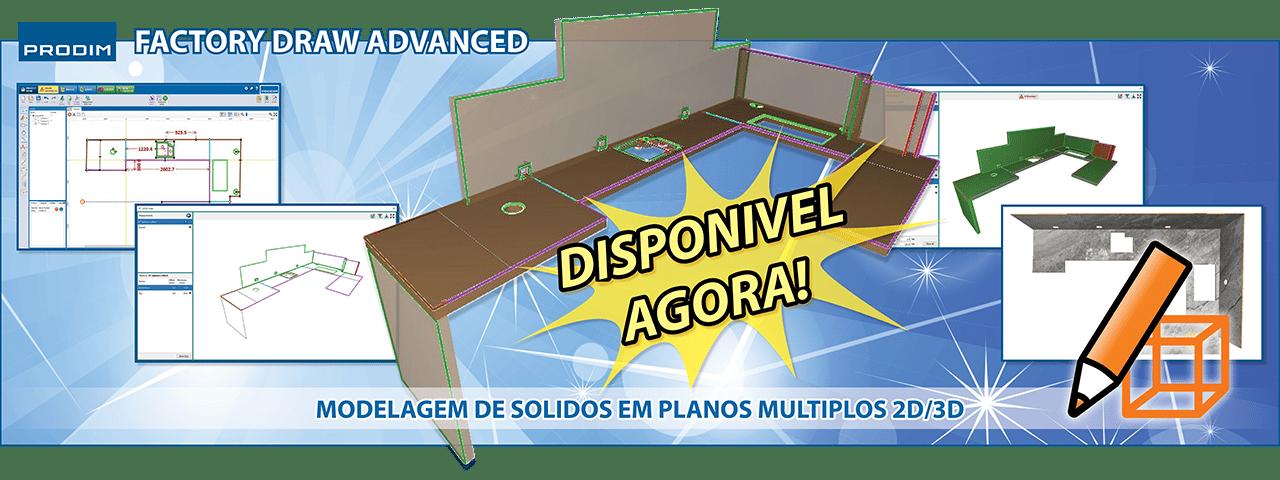 Prodim Factory Draw Advanced - Modelagem de solidos em planos multiplos 2D/3D - Assista o vídeo
