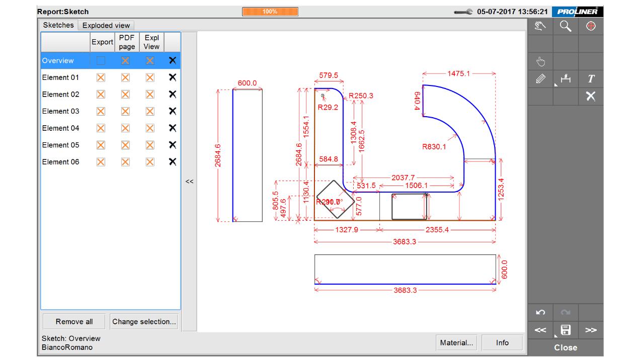 Captura de ecrã: Software Prodim Factory - Edit CT