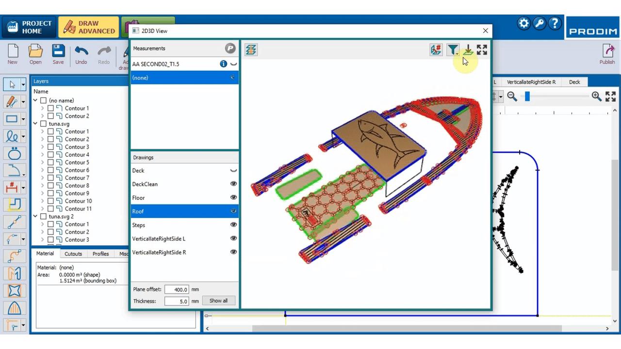 Software Prodim Factory para convés