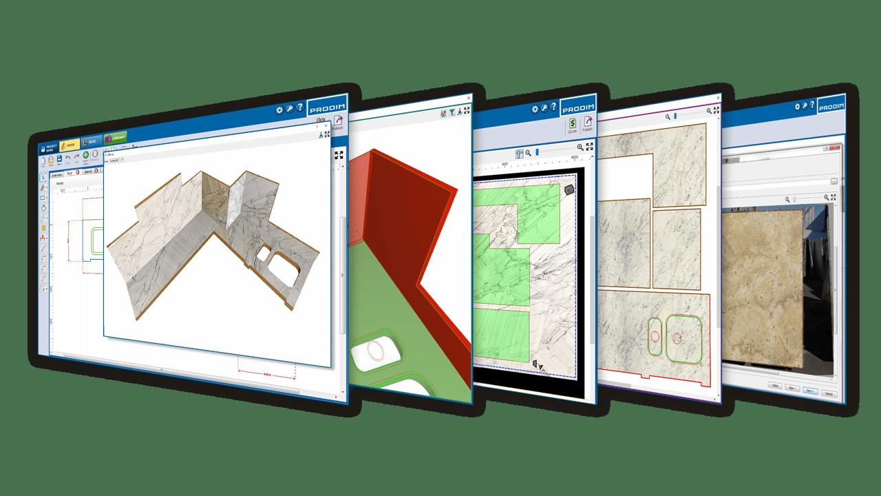 A solução de software Prodim Factory - Indústria da Pedra