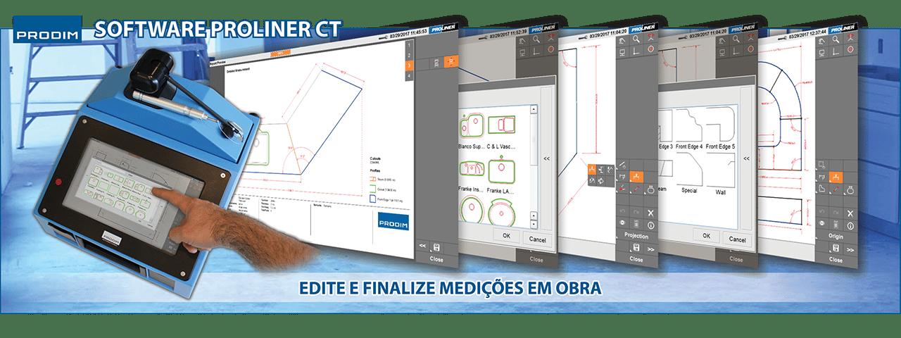 Slider - Prodim Proliner CT software. Clique para obter mais informações