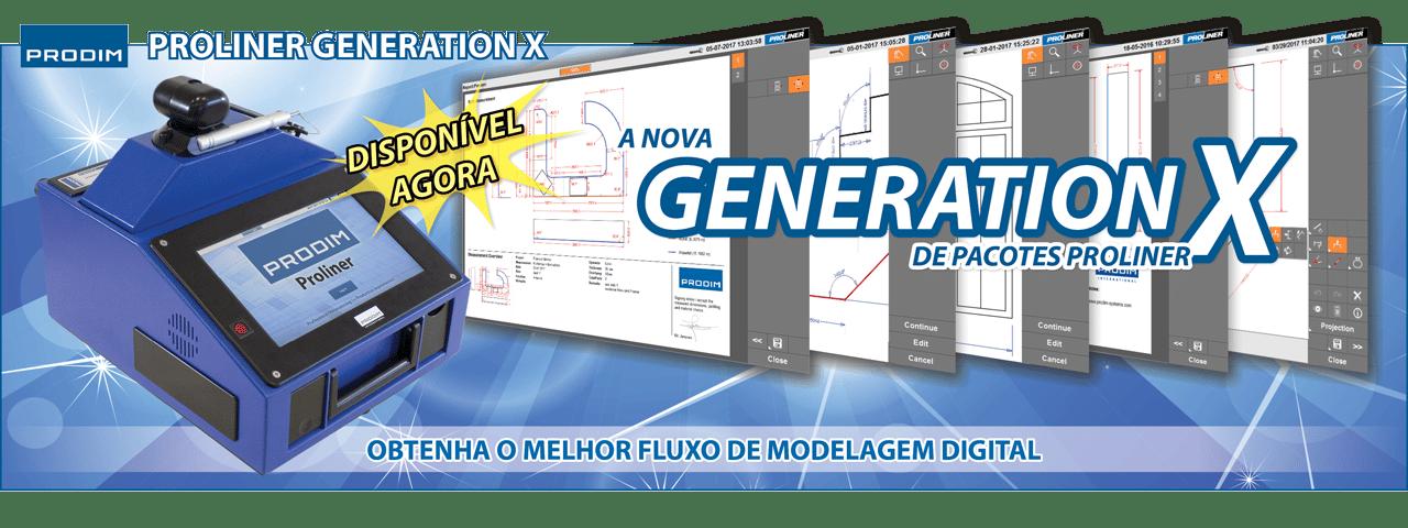 Slider - A nova Generation X de pacotes Proliner - Obtenha o melhor fluxo de modelagem digital